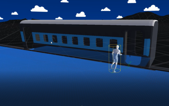 Passenger getting on/off Indian Railway (Simulation)